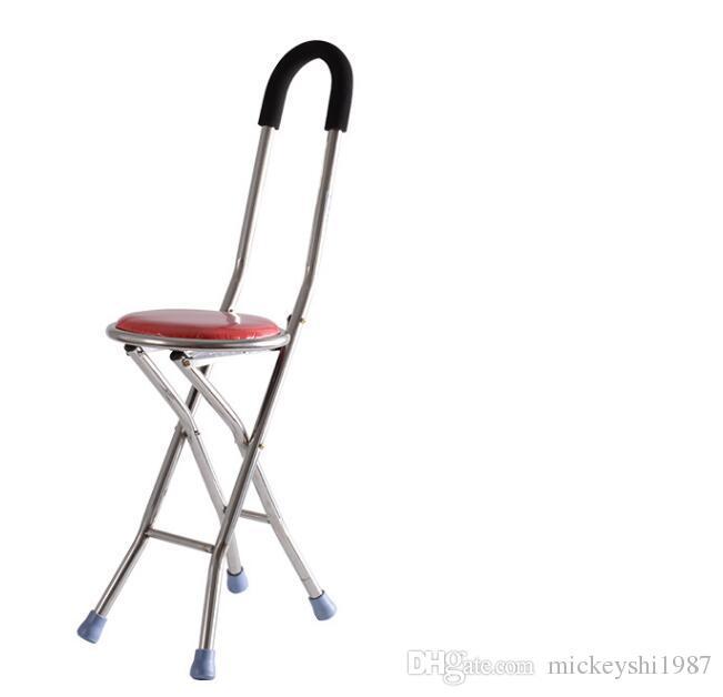2019 Folding Portable Walking Sticker Cane Chair Travel Camp Tripod