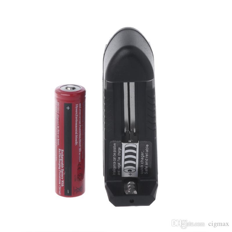1 pc 18650 3000 mAh 3.7 V Bateria Li-ion Recarregável + Carregador Inteligente Para Lanterna