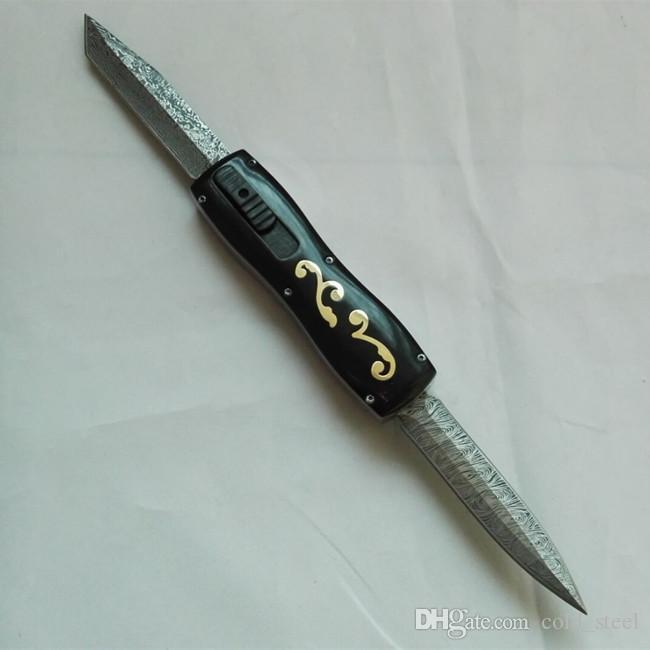 OEM Benm farfalla Dibetou doppia lama a doppia azione D2 lama Cupronickel + ottone di campeggio piegante di caccia sopravvivere coltelli
