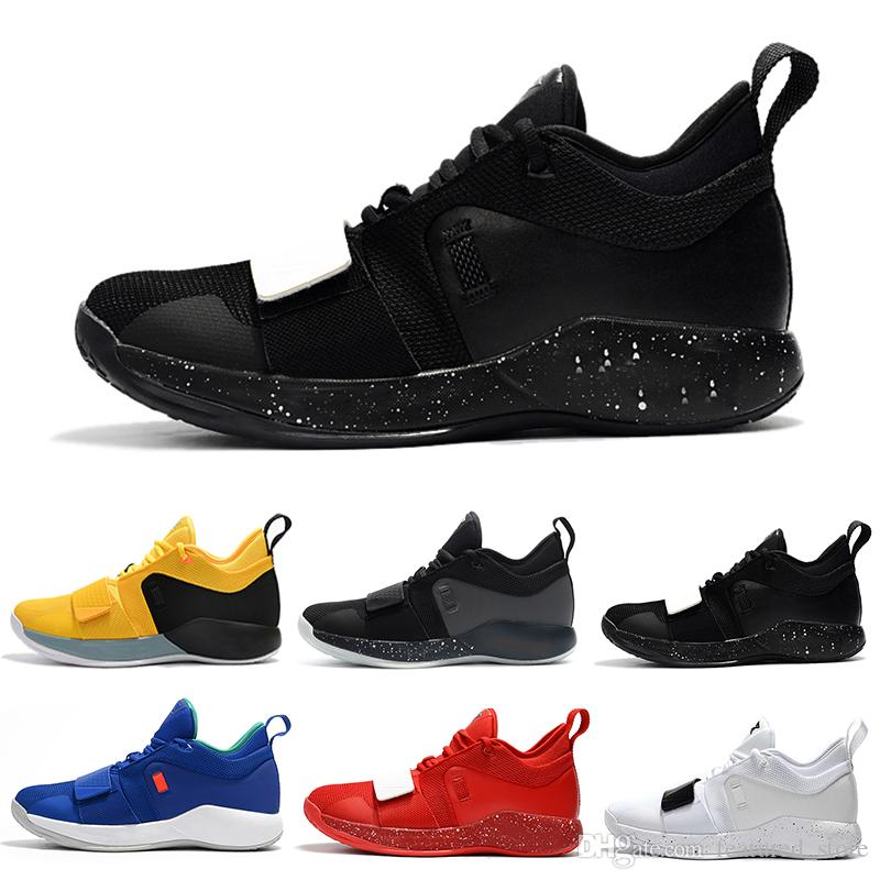 size 40 f516b d9b0c 2018 Hot Sale PG 2.5 Black White Red Paul George 2018 Hot Sale PG 2.5 Black  Basketball Shoes For Top Quality Men Sports Sneakers Size 40 46 Shoes Kids  ...