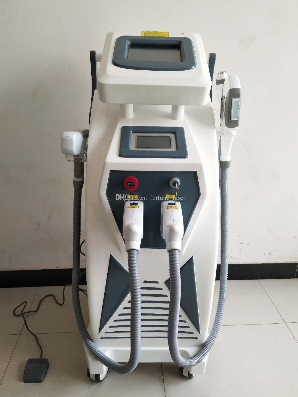 Профессиональный 3 в 1 Оборудование красотки IPL SHR РФ ND YAG лазерной эпиляции омоложения кожи безболезненным