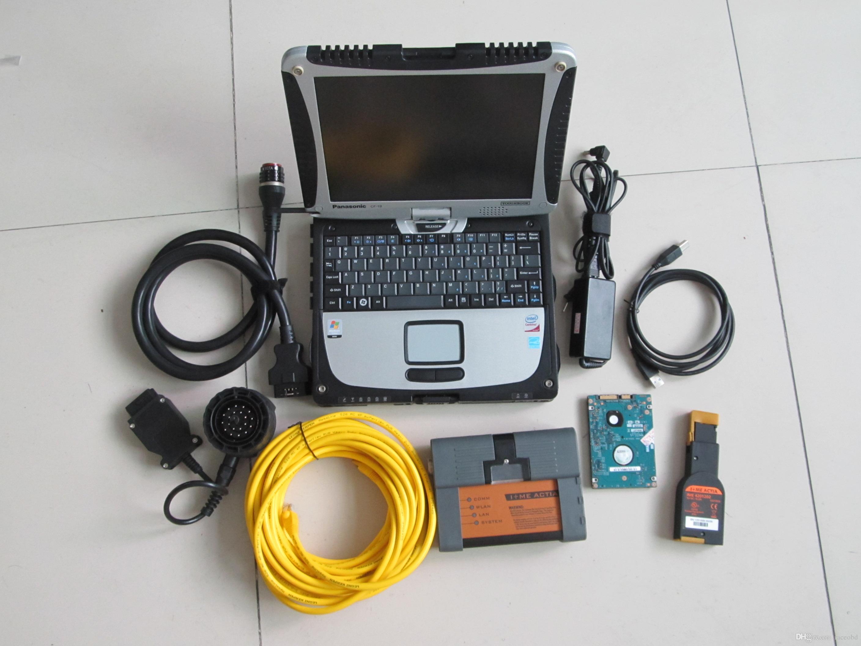 Per la diagnosi dello strumento Diagnostica BMW Diagnosi ICOM A2 con laptop da 500 GB del computer portatile HDD CF19 Touch Screen completo