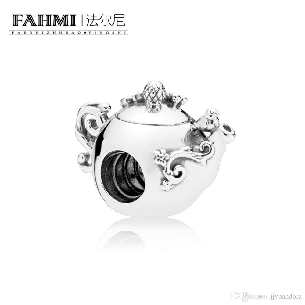 Fahmi 100% 925 Sterling Silver 1: 1 Oryginalny 797065CZ Autentyczne Temperament Moda Glamour Retro Bead Wedding Women Jewelry