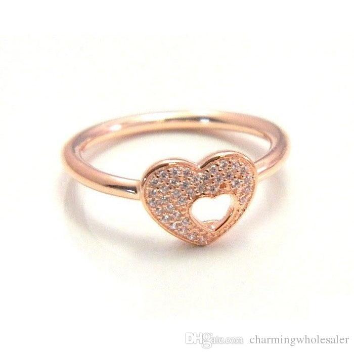 anello pandora cuore in oro