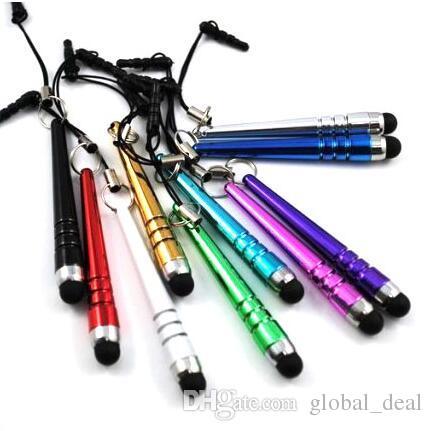 Baseball Bar Stylus Kapazitive Stylus Touch Pen Staubschutzkappe für iPhone 4 5 6 7 8 iPad 3,5 mm Stecker Handy