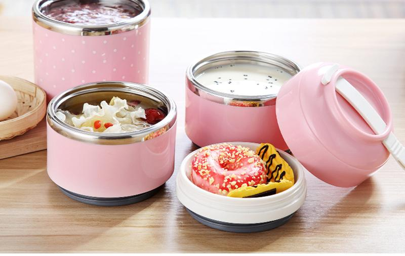 Portable Japanese Lunch Boxs Thermal Insulation Food Containers Stainless Steel Metal Plastic School Kids Bento Box Dinner Sets14