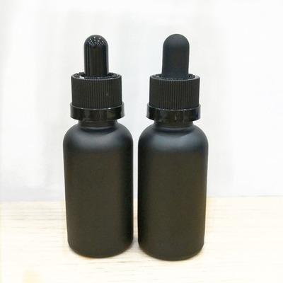Nouveau vide compte-gouttes en verre noir mat de 30ml avec pipette de compte-gouttes en verre pour les produits chimiques aromatherapy de laboratoire d'huiles essentielles