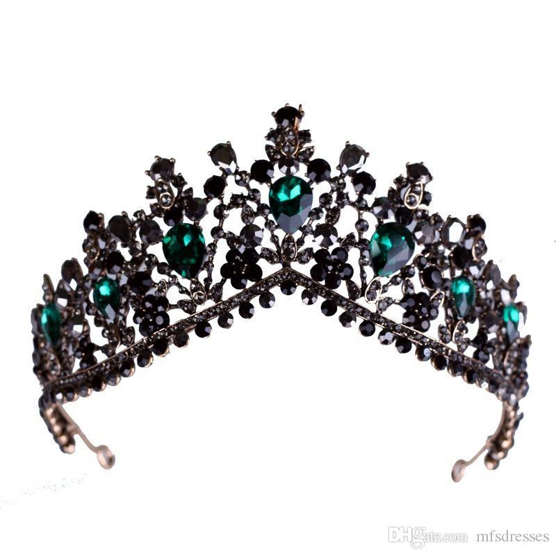 Tiara nupcial de la venda del Rhinestone de la corona del cristal de la vendimia para las mujeres y las muchachas Accesorios nupciales del partido de las mujeres de los tocados de la boda