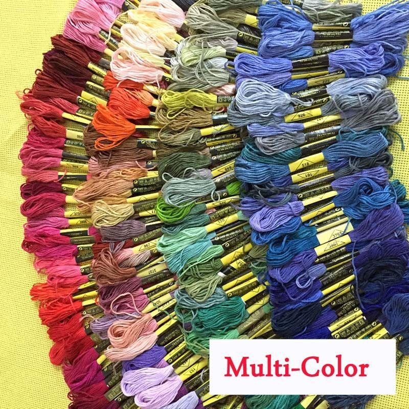 250 قطع مختلفة اللون عبر الابره مواضيع مماثلة dmc مرساة عبر الابره القطن التطريز التطريز الموضوع