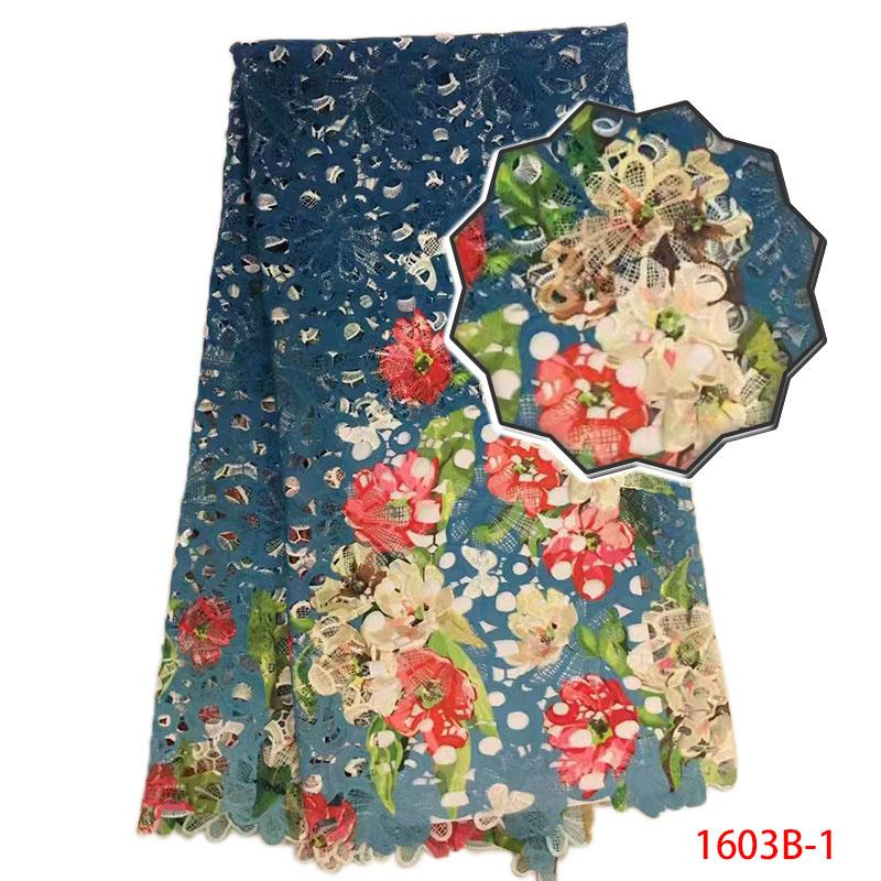African Lace Fabrics Colorful Guipure Lace Fabric 2018 High Quality Nigerian Cord Lace Fabric For Wedding Dresses XY1603B-1