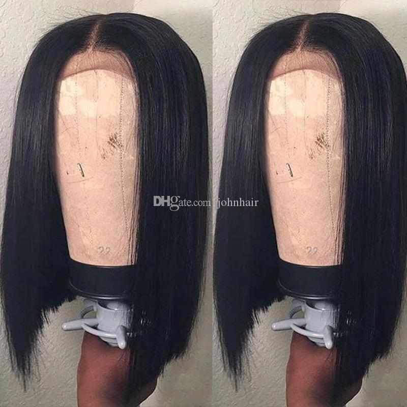 13x6 Deep Part Bob Lace Front Wigs With Baby Hair Pre Plucked Short Human Hair Wigs Brazilian Virgin Hair For Black Women 9A