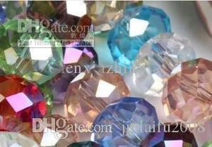 Оптовая 1000 шт. многоцветный AB Swarovski Crystal свободные бусины 3X4mm/4X6mm / 6x8mm/8X10mm