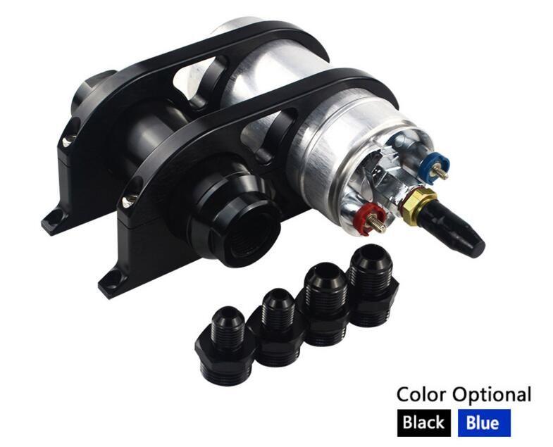 44mm60mm Kit de abrazadera de montaje de filtro de bomba de combustible de doble palanquilla doble + 044 Bomba de combustible + Filtro de combustible