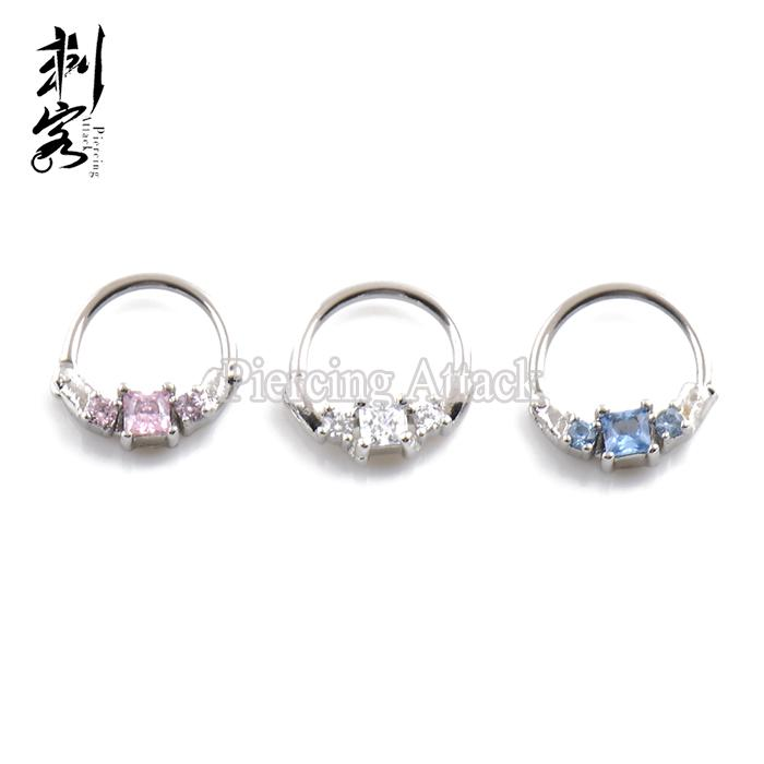 2020 Cz Jeweled Septum Clicker Nose Ring From Mingring001