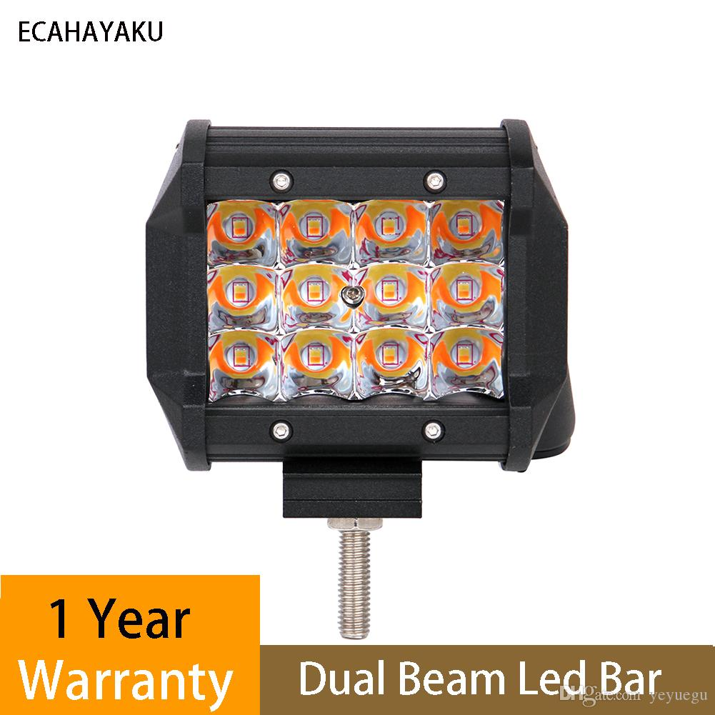 Triple Rows 4 Inch 36w Led Light Bar Five Function Amber White Led Fog Lamp For Offroad Suv Atv Snowmobile Led Spot Light Led Spot Lights From