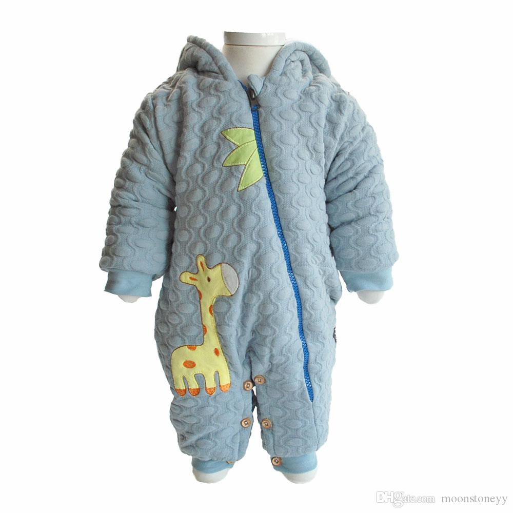 Winter Baby Overalls for Newborn Baby girl snowsuit Orgainc cotton Baby Boy clothes winter Outerwears Coats with hooded Jackets