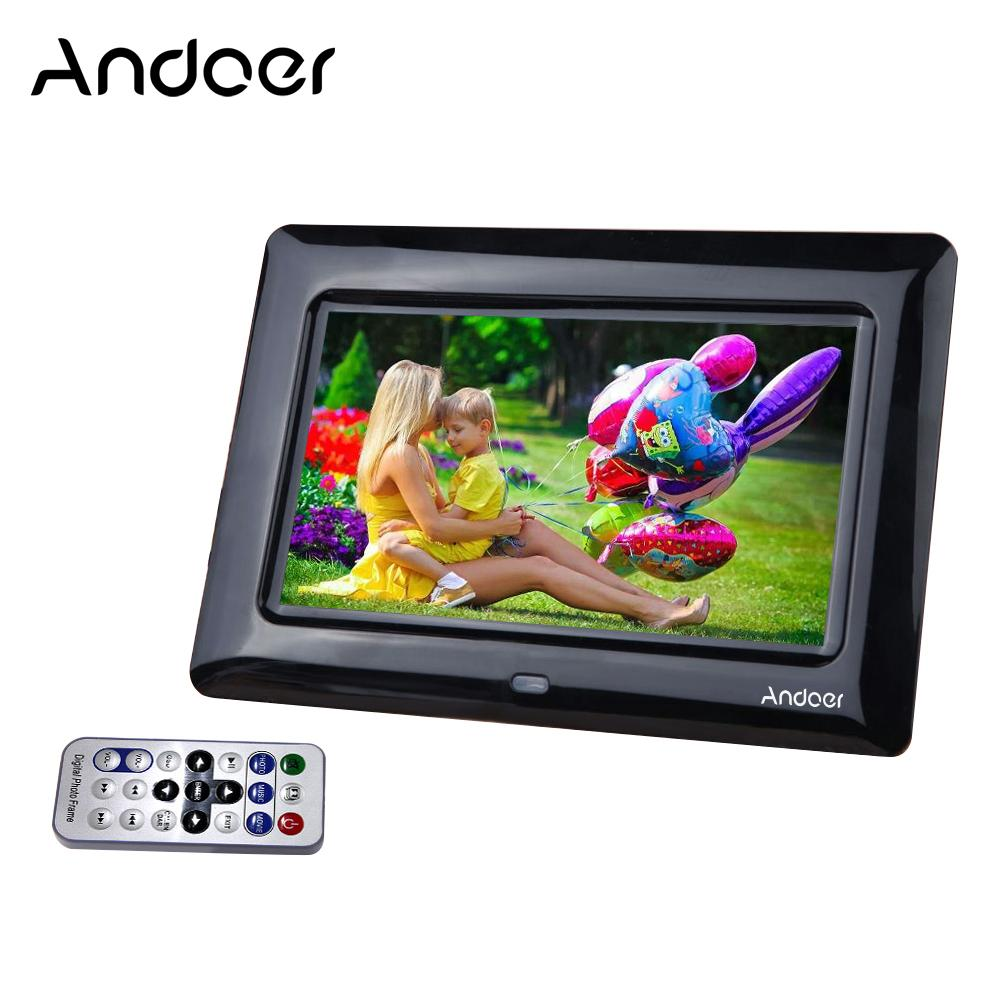 wholesale 7'' HD TFT-LCD Digital Photo Frame with Slideshow Clock MP3 MP4 Movie Player with Remote Desktop