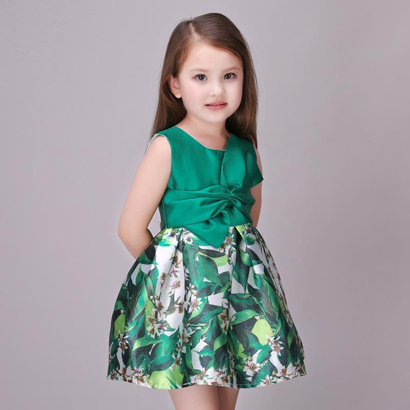 Compre Venta Al Por Menor De Flores De Lujo Vestidos De Niñas Para La Fiesta De Noche Princesa Lentejuelas Verano Verde Vestido Niña Niños Marca Ropa
