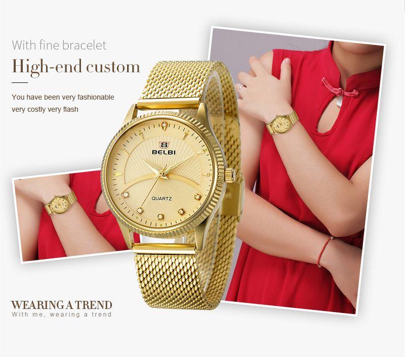 Marque nouvelle mode femmes Wrist Watch dames occasionnels montres zircone bandes en acier inoxydable résistant à lʻeau montre usine vendeur 5811L