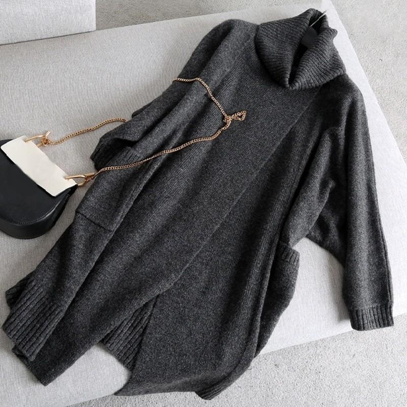2018 neue Mode Mashup Frauen Langarm Strickjacke verdicken Strickmantel Pullover Oberbekleidung Lady Knitting Cloak übergroße Pullover
