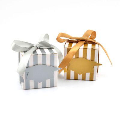Cajas de dulces de graduación especiales Preciosa caja de regalo de papel cuadrado con forma de doctor para invitados Novedad Favores de fiesta