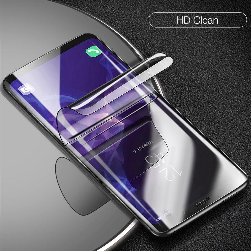 Гидрогелевая пленка полное покрытие для Samsung Galaxy S10 S10Lite S10Plus Note 8 9 Huawei P30 30Pro P40 Soft TPU Screen Protector