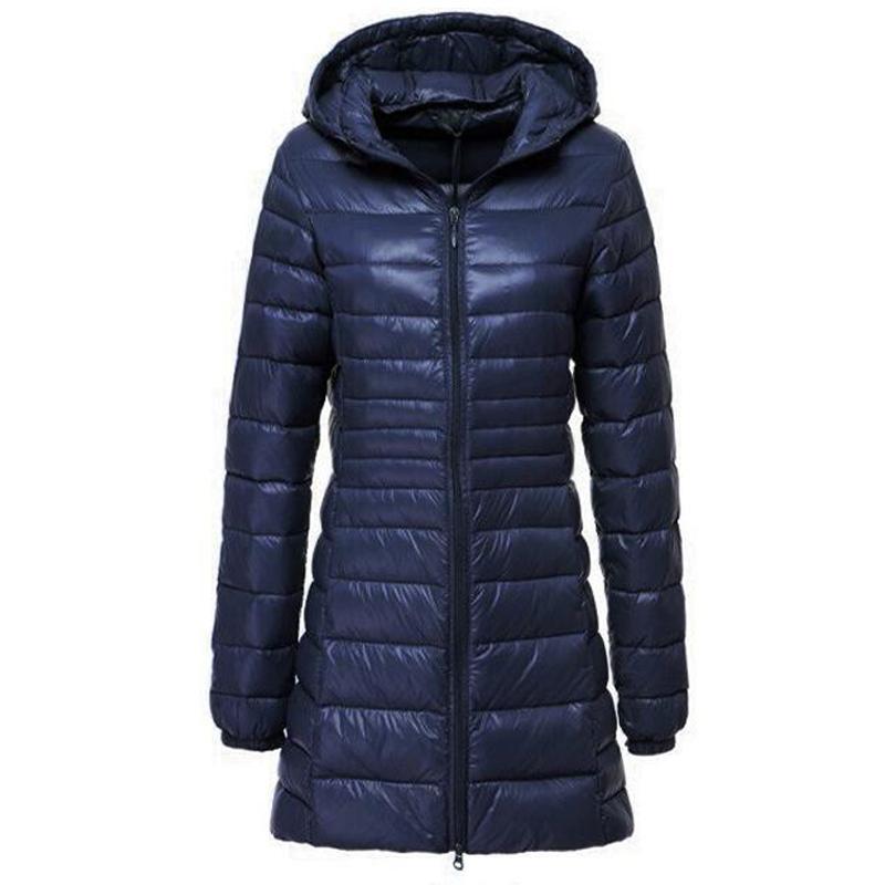 Großhandel Lange Jacke Frauen Winter Daunenjacke Frauen Casual Mit Kapuze Weiße Ente Daunenjacken Ultralight Warm 5XL 6XL Mantel Casaco Feminino Von