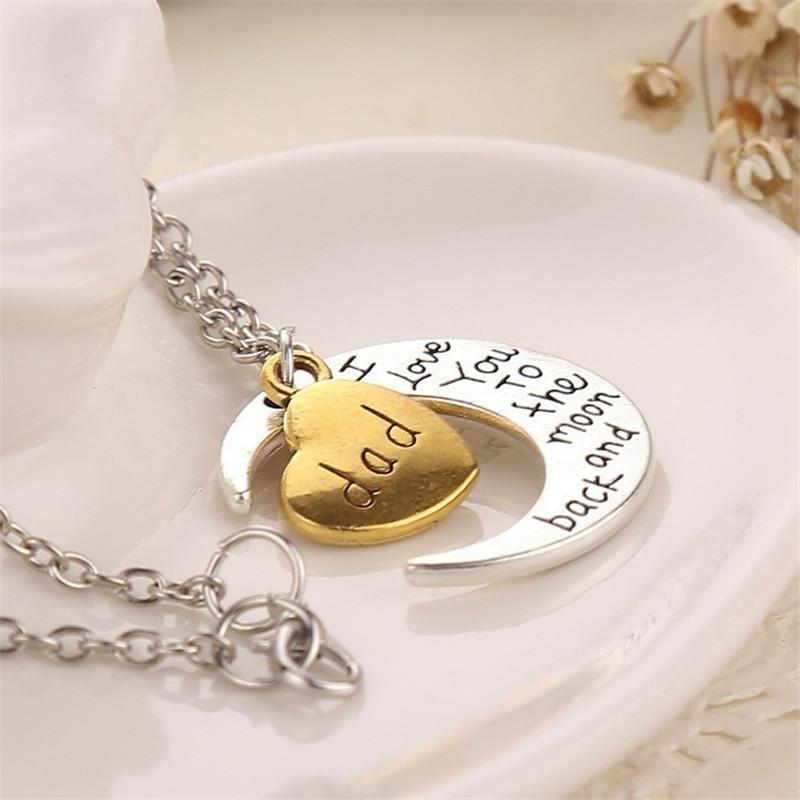 Высокое качество сердце ювелирные изделия я люблю тебя на Луну и обратно Мама ожерелье День матери подарок Благодарения подарок ювелирные изделия ZJ-0903221