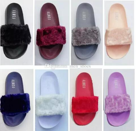 Leadcat Fenty Rihanna Faux Fur Slippers