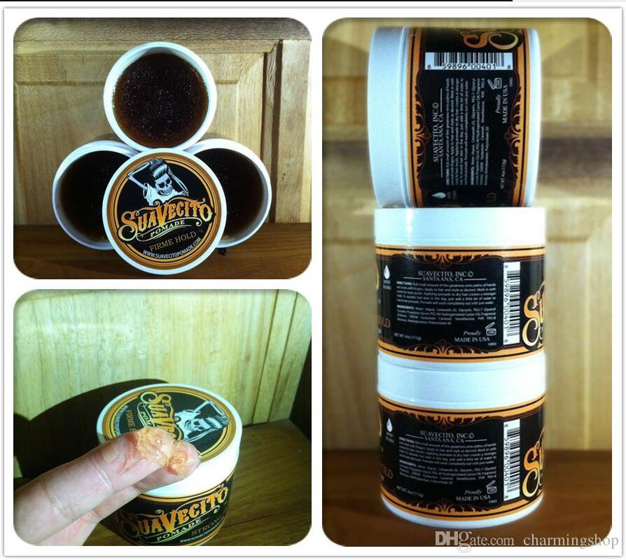 Top Quality ! Suavecito Pomade Strong style restoring Pomade wax big skeleton slicked back hair oil wax mud keep hair pomade for men