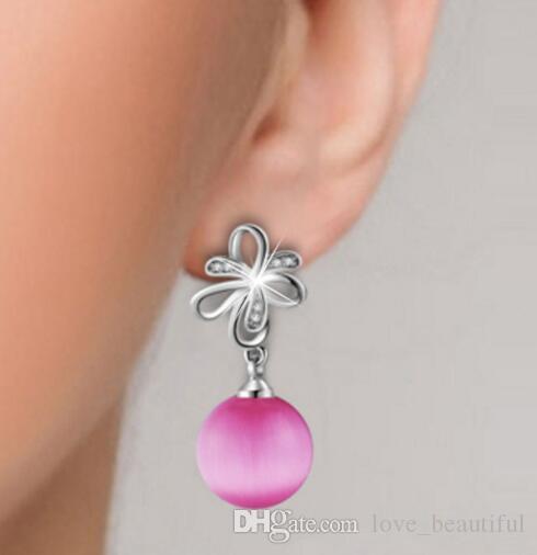 Hot Style Europa e nos Estados Unidos popular micro-set mãe pérola flor orelha unha moda clássico requintado