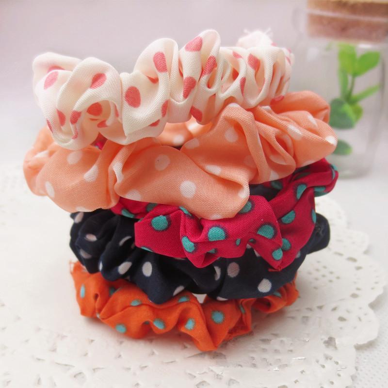 Holdail Holder Ponytail Полосатая полосатая шифоновая ткань для волос волос эссенч, аксессуары для головы Основные кольца для волос петли кольцо 2 стилей