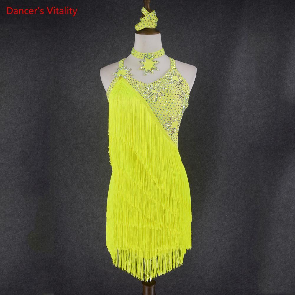 Frauen-Tanz Latin Dance Kleidung ältere Frauen Dance Wear Girls Competition Dress