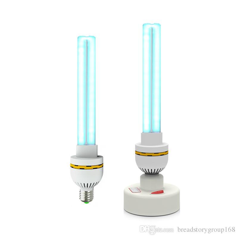 E27 VUV hogar Desinfección UV de la lámpara 15W 20W 30W UVC cuarzo ultravioleta germicida Lámparas 110V 220V T6 esterilizador lámpara UV