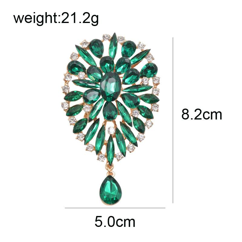 Youngtulip Flower Brooches for Women Rhinestone Fashion Brooch Pin Dress Coat Corsage Wedding Accessories Bijouterie Broches