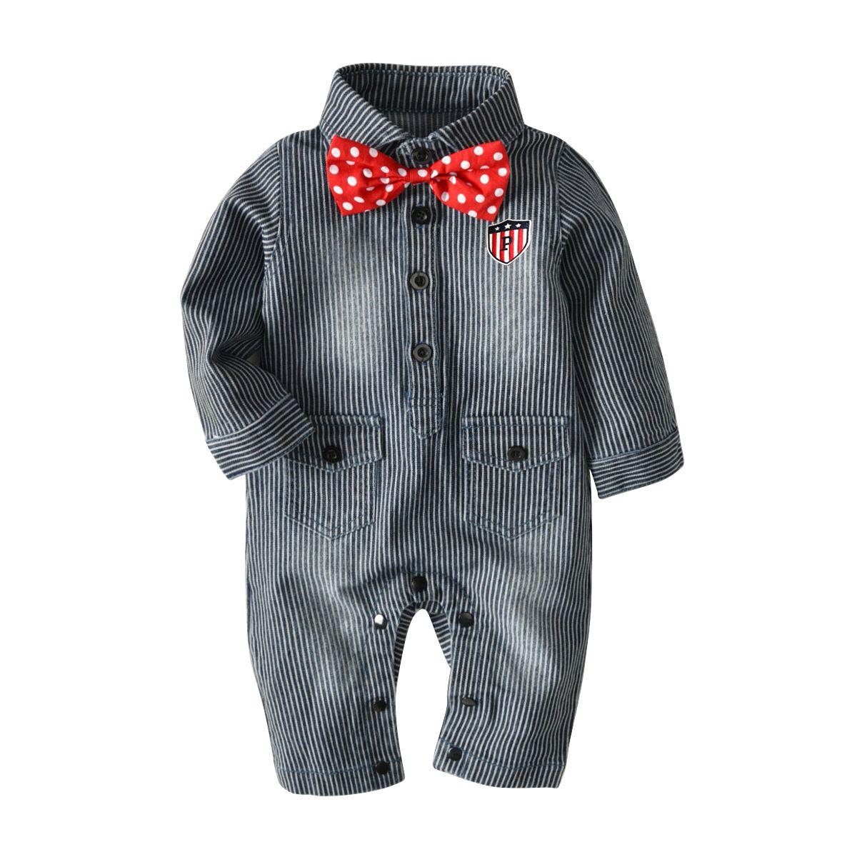 2018 frühling Herbst babykleidung Langärmelige babykleidung cartoon Gentleman Overalls babyspielanzug Säuglingskleidung Overalls