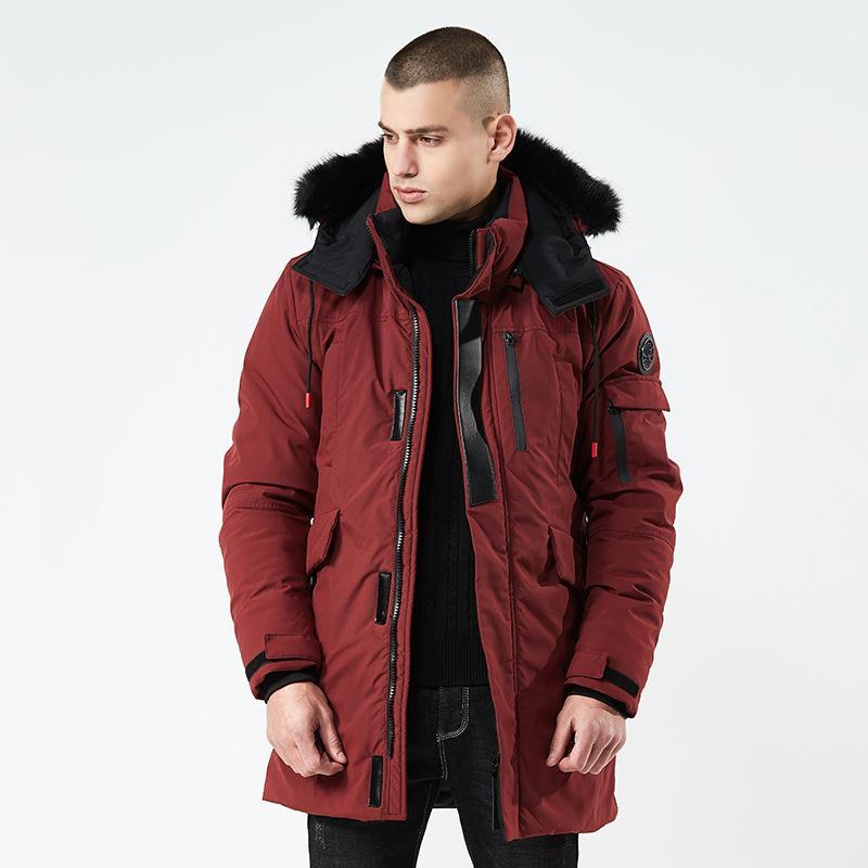Warm Outwear Winter Hooded Jacket Men Windproof