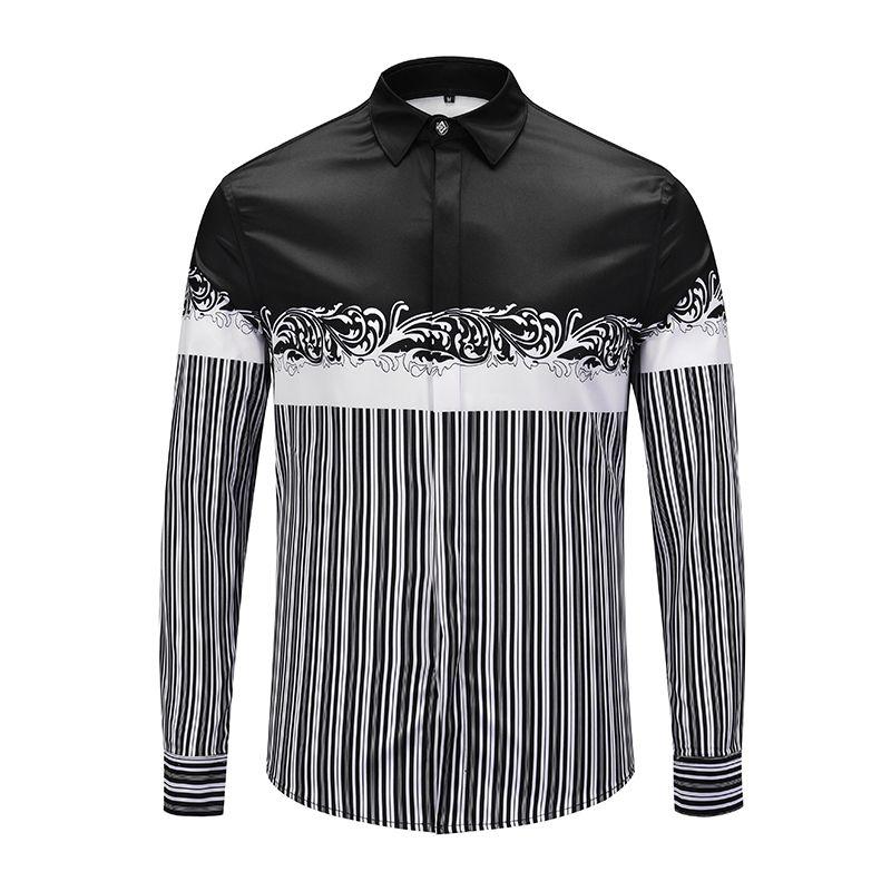 XIMIWUA New Arrival Men Shirts Striped Shirt Long Sleeve Casual Chemise Homme Hawaiian Shirt High Quality Camisas Para Hombre