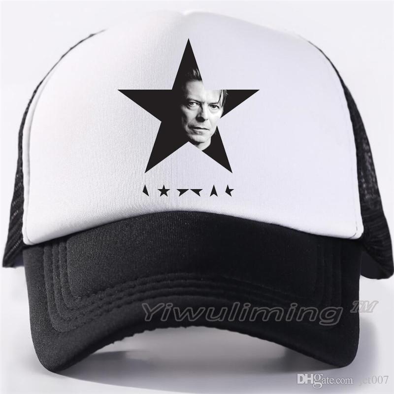 David Bowie Snapback Gorra de béisbol de malla Sombrero de verano Sombreros de deporte para hombres y mujeres Moda Camionero Gorras Niños Niñas Hip Hop Skateboard Casquette