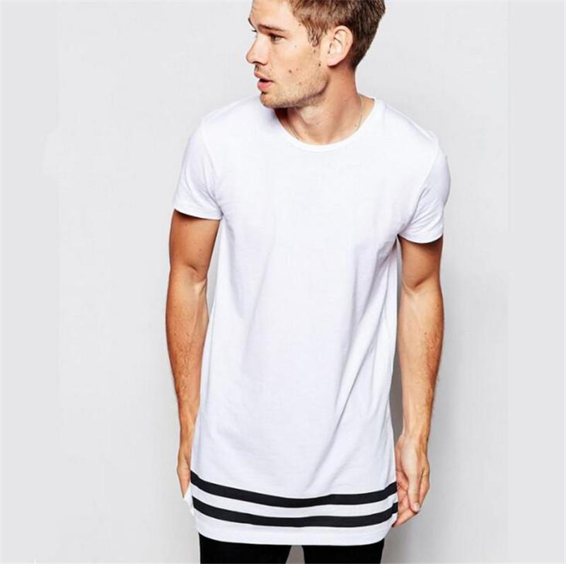 Mens Tshirts Striped Print Long Fashion Style Casual Plus Size Tops New Arrival Tops Hip Hop Street Styele Tees High Quality