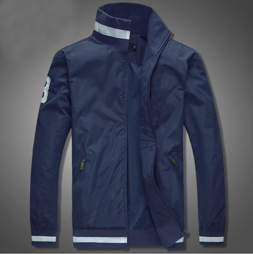 Giacche nuovo rivestimento casuale degli uomini di alta qualità maschile autunno regolare rivestimento sottile della tuta sportiva stand Colletto