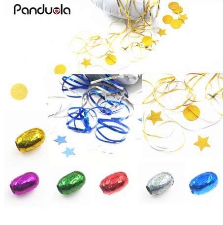 10 м фольга шар Лазерная Керлинг лента День Рождения свадебные украшения игрушки подарок воздушный шар строки EventParty поставки воздушные шары