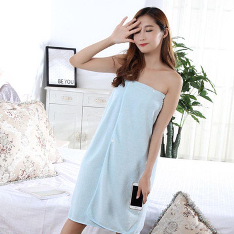 Quick Drying Shower Wrap Extra Large Towel Body Spa Bath Robe Dress Women US