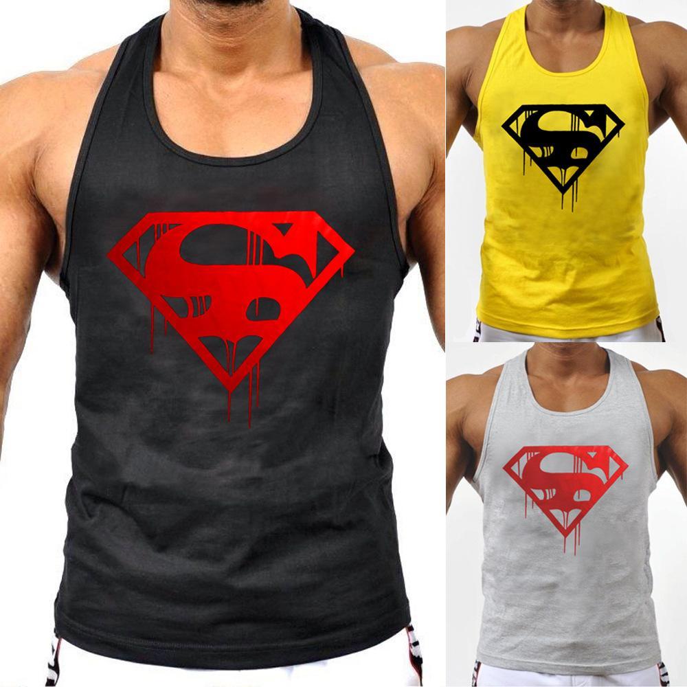 Brand Mens Bodybuilding Tank Top Summer Sleeveless 3d Printing Fitness Singlets Muscle Shirt Gyms Vest