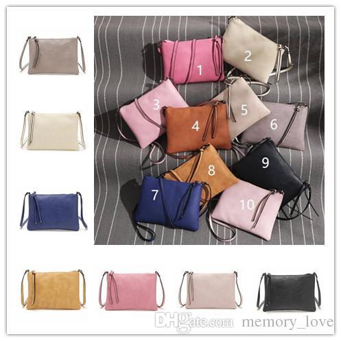 сплошной цвет сумка crossbody сумки PU кисточкой кошелек конфеты цвет креста тела сумки Сумка CA бесплатно