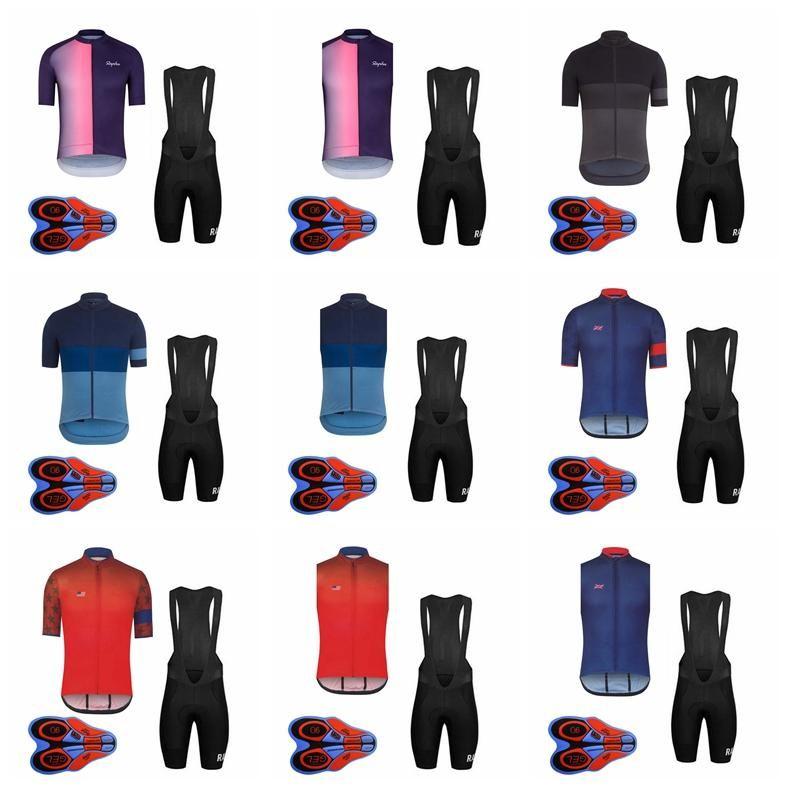 RAPHA équipe manches courtes (bavette) shorts gilet sans manches définit été vtt 9D gel pad hommes de cyclisme vêtements pas cher vêtements-china F810 /
