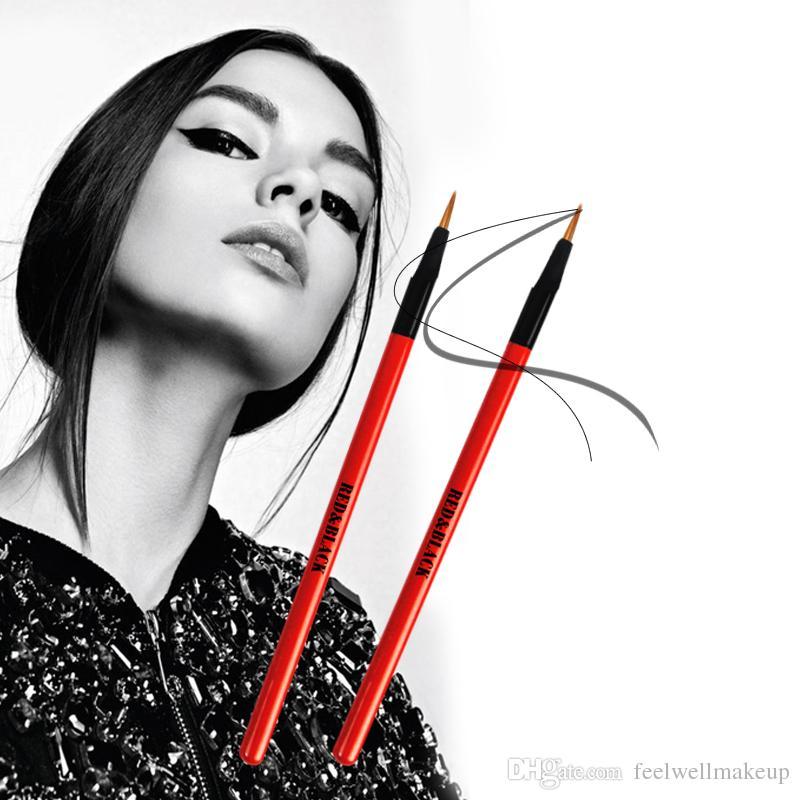 RedBlack profissional Eyeliner Brush delineador de ojos Lipliner Brush Herramienta de maquillaje multifunción pinceles delineador de ojos