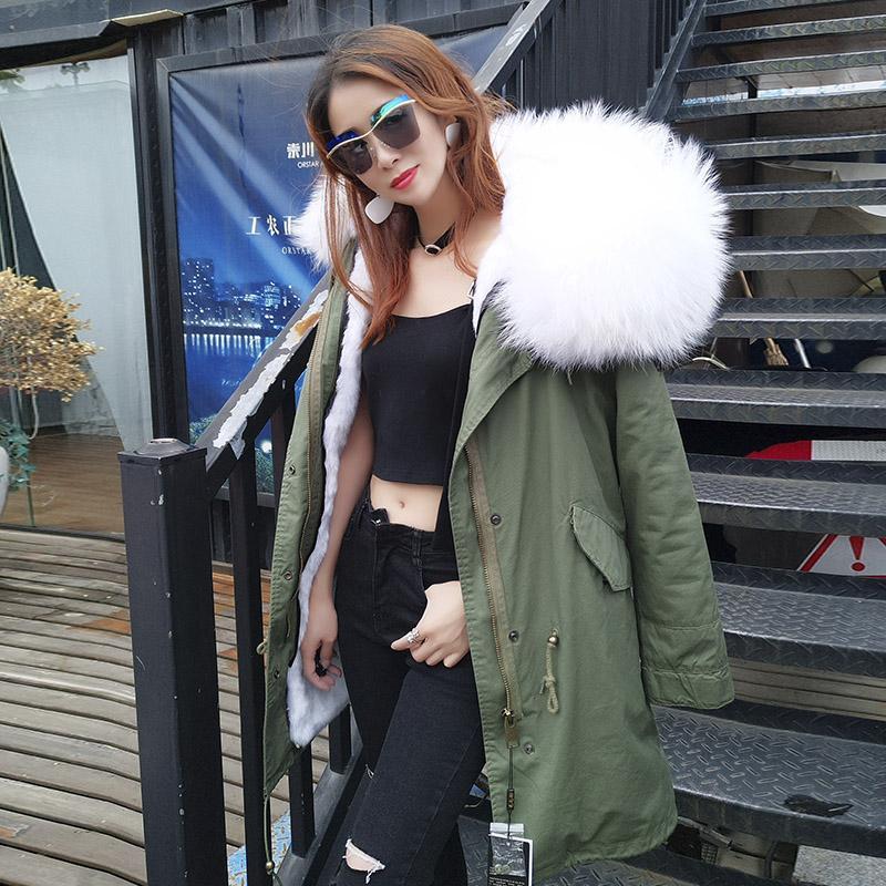 2018 nowa kurtka zimowa damska płaszcz naturalny prawdziwy szop futro kołnierz gruby ciepły odłączany streetwear motocykl parki casual