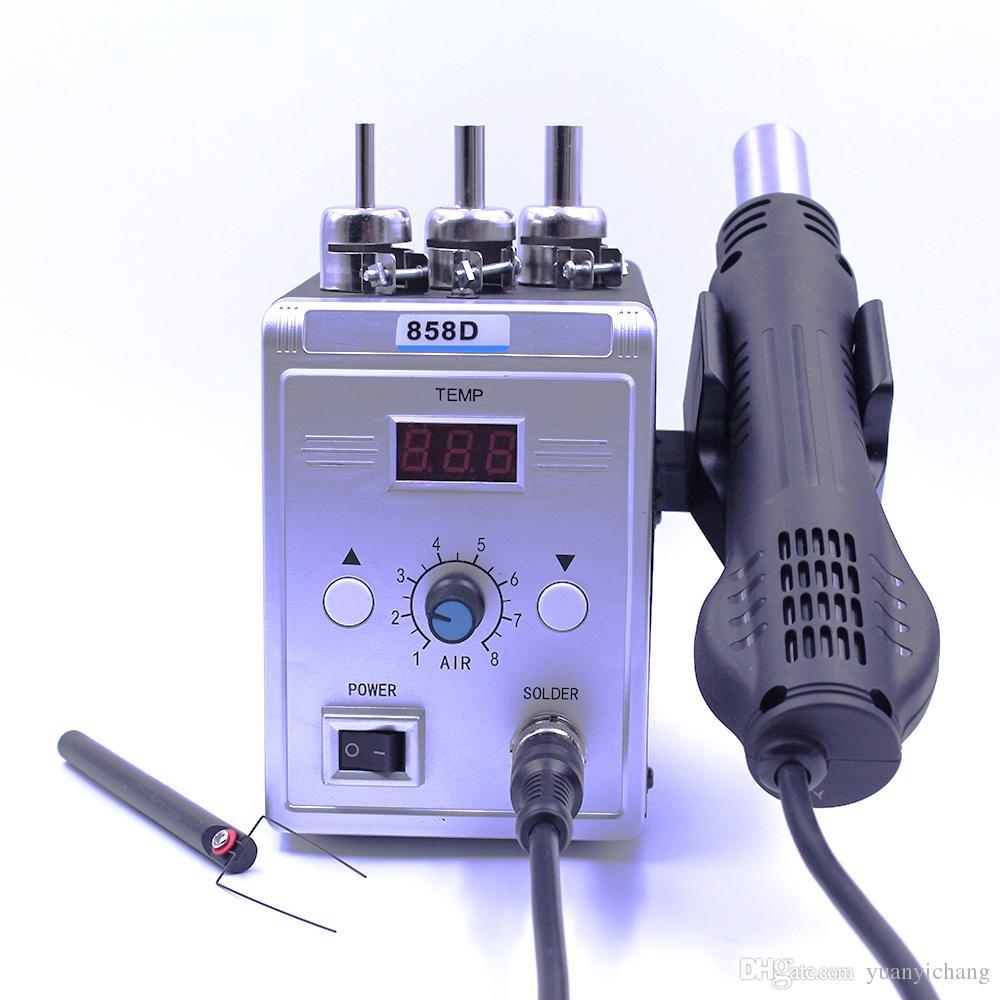Sıcak Hava Tabancası 858D 700 W BGA Rework Lehim Istasyonu Lehim Isı Hava Tabancası Istasyonu 220 V / 110 V Için SMD SMT Kaynak Onarım Ile Hediyeler