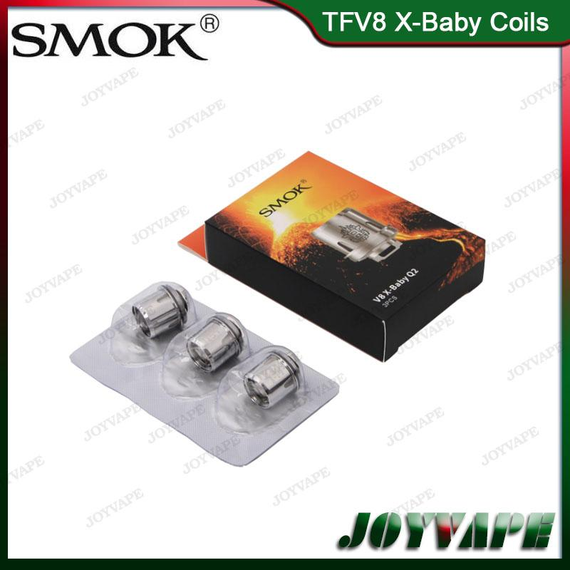 Authentic SMOK TFV8 X-Baby Bobine di ricambio M2 Q2 X4 T6 Sostituzione bobine atomizzatore per Smoktech TFV8 X-Baby Tank 100% originale